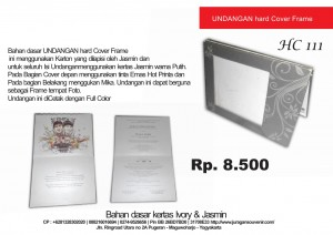 Undangan Hard Cover Kode 111