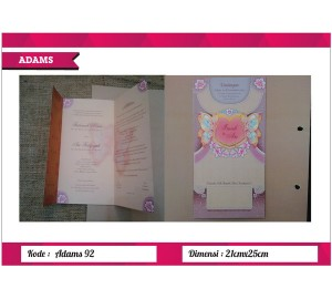 Undangan Soft Cover ADAM 92