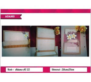 Undangan Soft Cover ADAM AC-22