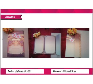 Undangan Soft Cover ADAM AC-23