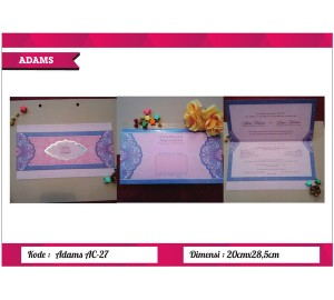 Undangan Soft Cover ADAM AC-27