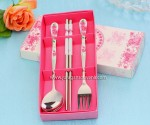 3 pcs Spoon Chopstick Pink Packing