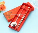 2 pcs Spoon Chopstick Red Packing