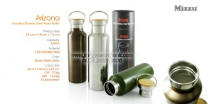 Arizone Insulated Stainless Steel Water Bottle Botol